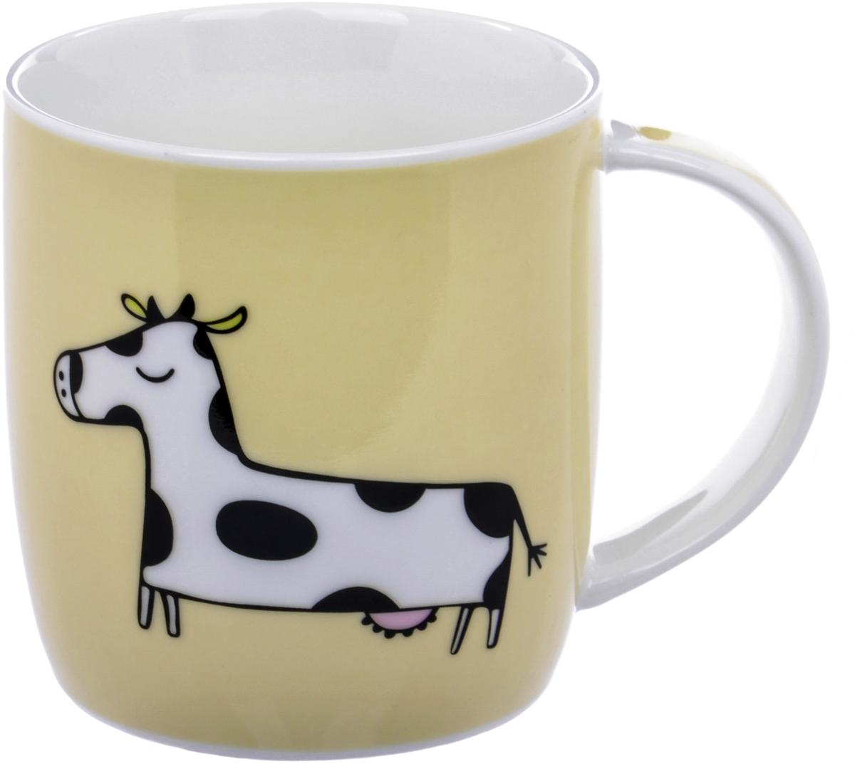Кружка Liling Quanhu Зоопарк 2. Корова, 355 млLQB35-T1110B_4Кружки «Quanhu» - глянцевые кружки из молочно-белого фарфора с цветными деколями. Гладкие, устойчивые, с удобной широкой ручкой, они одинаково хороши для горячих и холодных напитков. Поскольку кружка отражает индивидуальность своего владельца, то каждому самому выбирать, каким его будут воспринимать окружающие, и какую кружку выбрать: нежную, в сдержанных тонах или же яркую и футуристическую, с буйством красок.Кружка - замечательный вариант для офиса и дома, для компании, семьи. Хороший подарок коллегам и близким. Кружки можно использовать в микроволновой печи и посудомоечной машине.