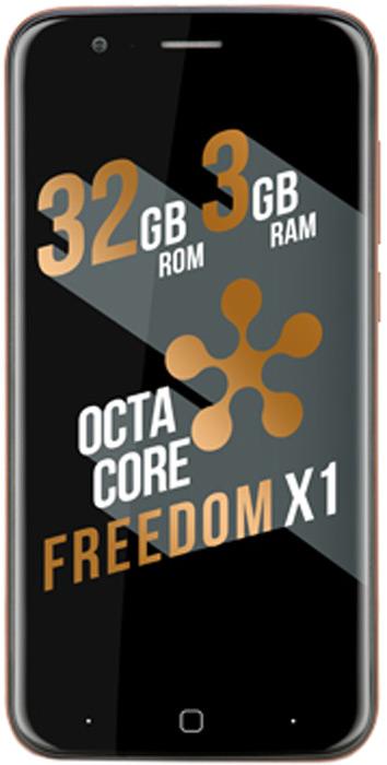 Just5 Freedom X1, Brick908Just5 FREEDOM X1 - это очень мощный смартфон, который способен конкурировать с популярными флагманами премиум сегмента. Новый Just5 FREEDOM X1 оснащен встроенной памятью 32GB для хранения данных и 3GB оперативной памяти. Восемь ядер чипсета MTK6753 Cortex-A53 обеспечивают быструю работу 64-битной системы. Превосходная 16-мегапиксельная камера Samsung порадует вас высоким качеством снимков. А непрерывную работу обеспечит мощная батарея с функцией быстрой подзарядки.