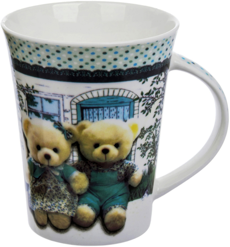 Кружка Liling Quanhu Медведи на даче. Дизайн 3, 380 мл кружки из императорского фарфора купить в спб