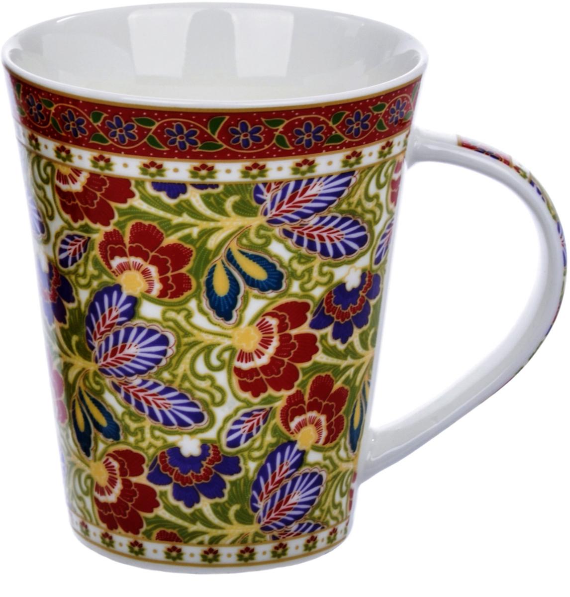 Кружка Liling Quanhu Цветочная фантазия. Дизайн 1, 380 мл кружка liling quanhu медведи на даче дизайн 1 380 мл