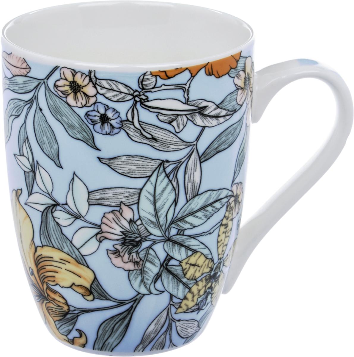 Кружка Liling Quanhu Цветы. Дизайн 4, 355 мл кружки из императорского фарфора купить в спб