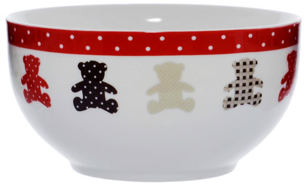 """Салатница """"Quanhu"""" - салатница из молочно-белого фарфора с цветными деколями. Гладкая,  устойчивая.   Одинаково хороша для горячих и холодных блюд.   Для дома. Для семьи. Хороший подарок коллегам и близким. Салатницу можно использовать в  СВЧ и мыть в ПММ."""