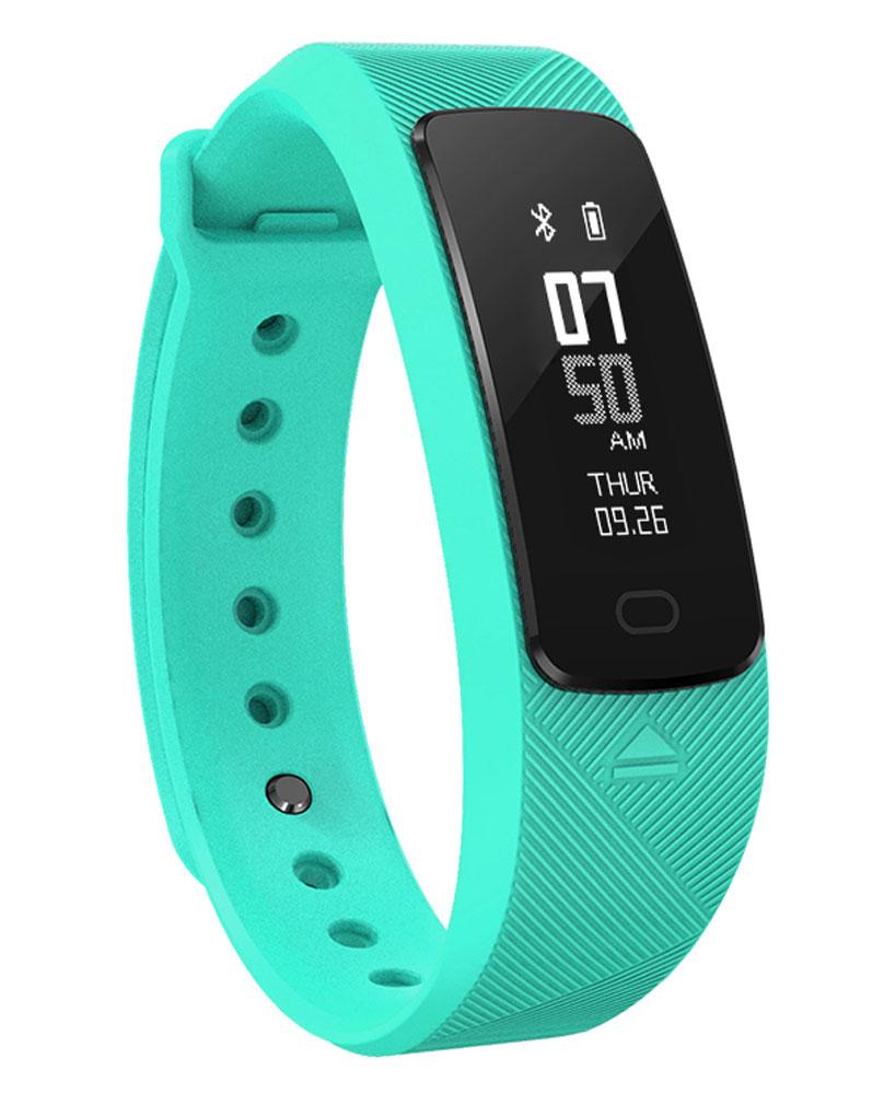 SMA B2, Teal умные часыSMA B2 TealУмный фитнес-браслет SMA B2 - это трекер активности с оптическим пульсометром и датчиком измерения артериального давления. SMA B2 помимо стандартных функций подсчета шагов, сожженных калорий и продолжительности сна выполняет функции умных часов и дает возможность видеть на экране трекера все входящие на смартфон звонки и уведомления. Помимо умных функций в трекер предустановлены режимы тренировок: бег, спортивная ходьба и велосипед. Активация режима тренировки запускает постоянное измерение пульса, секундомер и записывает трек тренировки при помощи GPS модуля смартфона. Зарядка браслета осуществляется от любого USB порта и не требует дополнительного кабеля.
