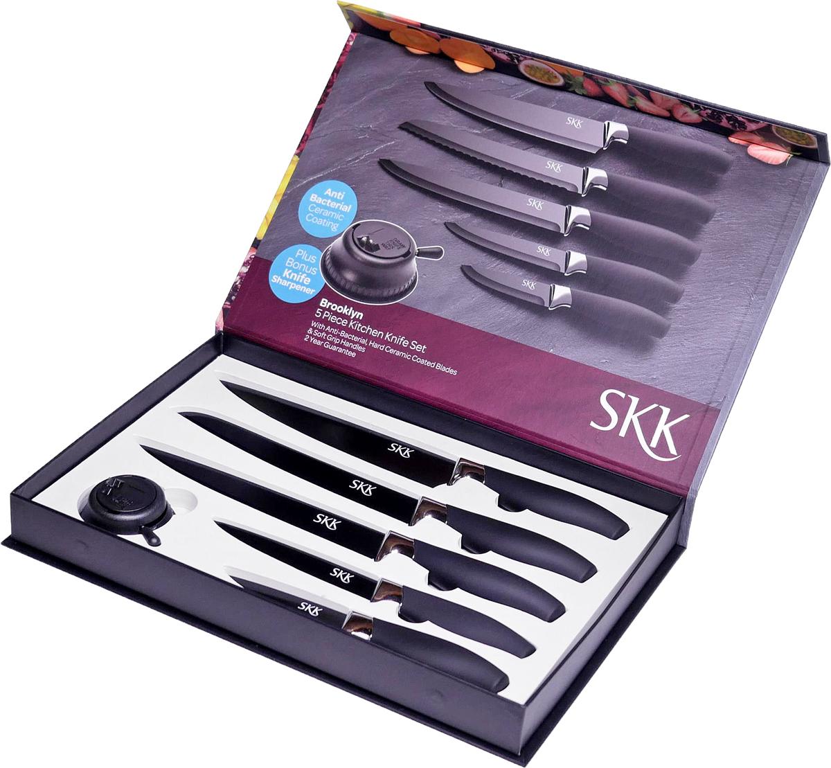 Набор кухонных ножей SKK Line Brooklyn, 5 предметов набор кухонных ножей из японской нержавеющей стали
