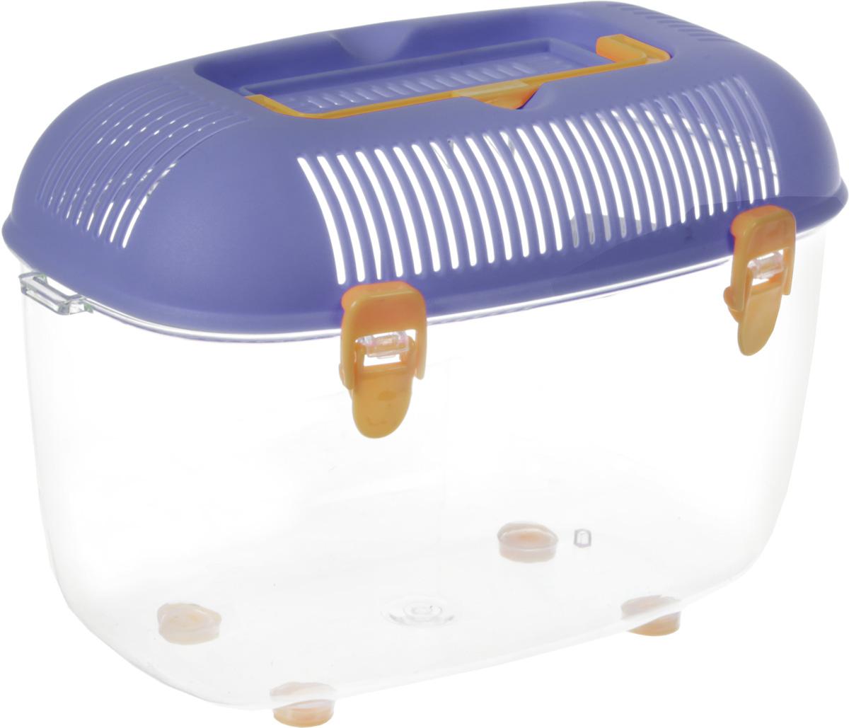 Переноска для грызунов №1, цвет: фиолетовый, 22,5 х 14 х 15 см клетка для грызунов i p t s mini с игровым комплексом 32 см х 20 см х 24 см