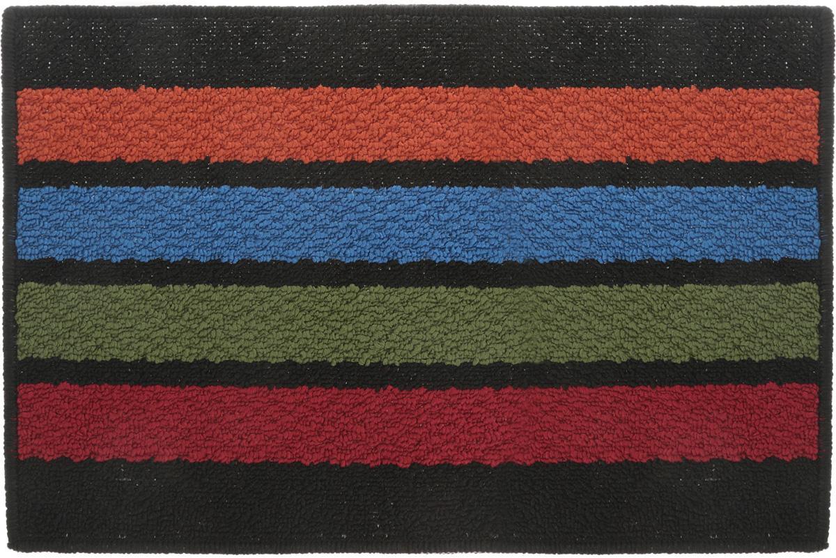 Коврик придверный Vortex Barcelona, цвет: черный, мультиколор, 38 х 58 см коврик придверный 35х60 см черный свинка vortex 20028