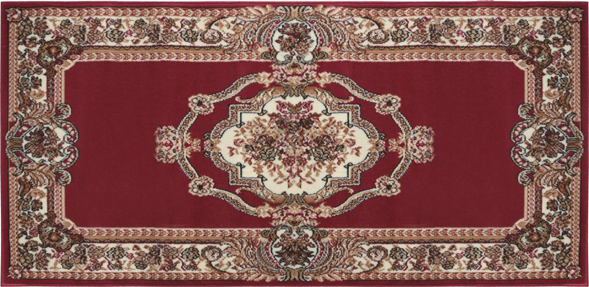 Коврик придверный Белка Лайла де Люкс, цвет: красный, бежевый, коричневый, 100 х 200 см