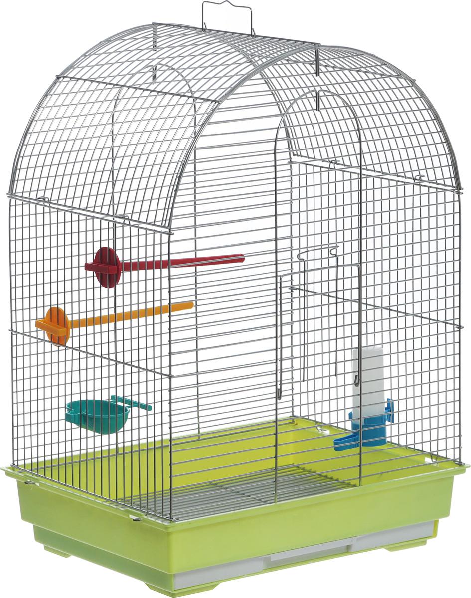 Клетка для птиц Велес  Lusy , разборная, цвет: салатовый, 30 х 42 х 65 см - Клетки, вольеры, будки