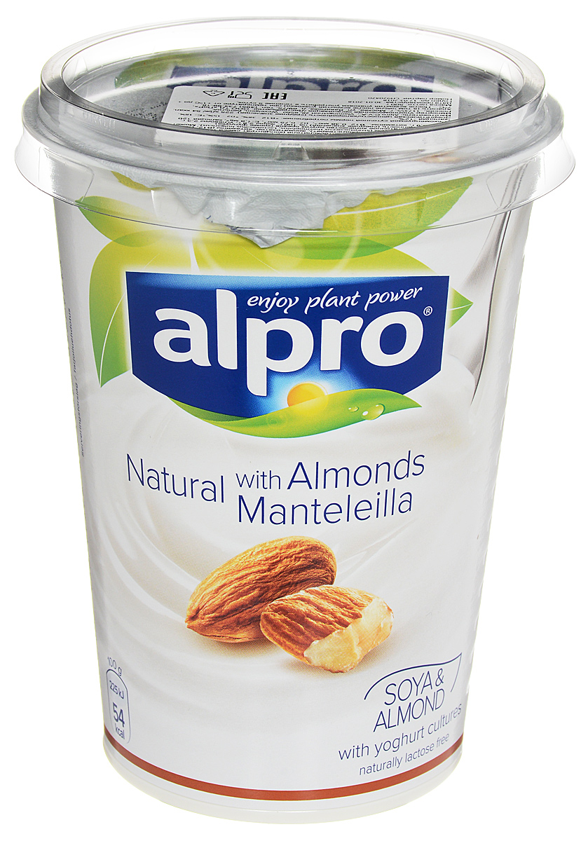 Alpro Йогурт Миндальный соевый, обогащенный кальцием и витаминами, 500 г