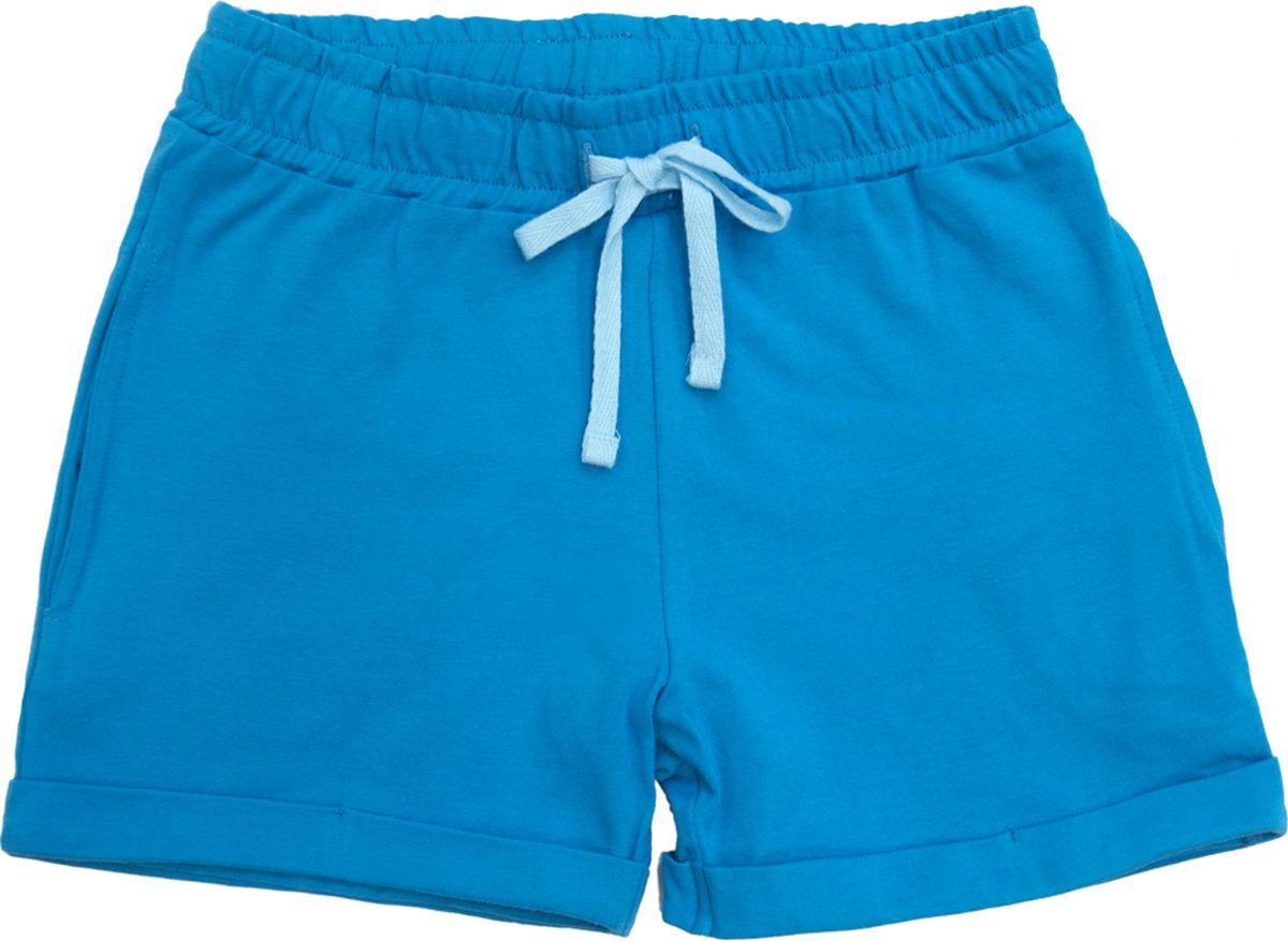 Шорты для девочки Let's Go, цвет: бирюзовый. 10176. Размер 98 спортивный костюм для девочки let s go цвет бирюзовый 1118 размер 98