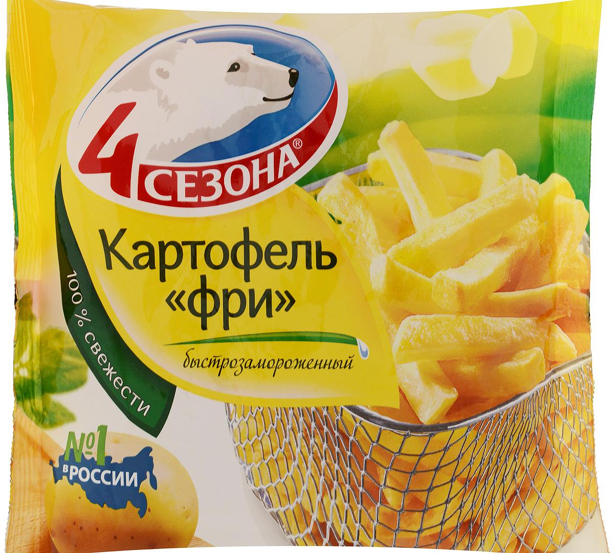 4 Сезона Картофель фри, 450 г что можно в дьюти фри в домодедово