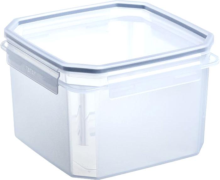 """Герметичный контейнер для пищевых продуктов с уплотнителем из силикона  и системой закрывания крышки с четырех сторон типа """"клик-клак"""".  Материал экологичный, безопасный, не содержит ,бисфенола А. Можно  использовать в микроволновой печи с нагреванием до +100 °С и охлаждать до - 40 °С."""