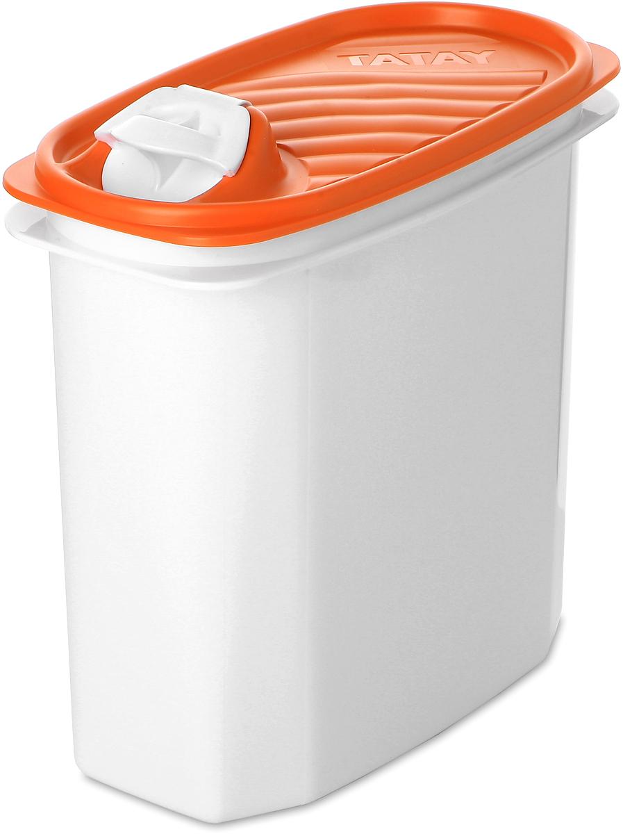Контейнер пищевой TATAY, цвет: оранжевый, 2 л