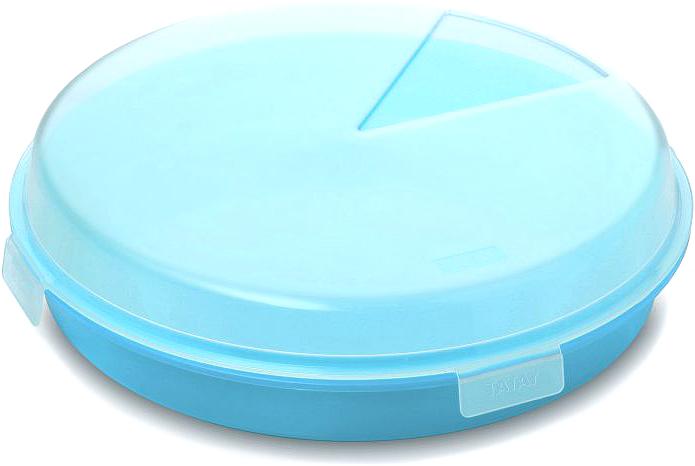 Контейнер пищевой TATAY, цвет: синий, диаметр 26 см1165010Пищевой контейнер для выпечки и блинов предназначены для ежедневногоиспользования на работе, в школе, дома и на отдыхе. Особенности:Не впитывают запахов и не окрашиваются в цвет пищи Легко моются в посудомоечной машине Полностью герметичны и водонепроницаемыОчень приятные на ощупь и практичные в применении.Диаметр контейнера: 26 см.