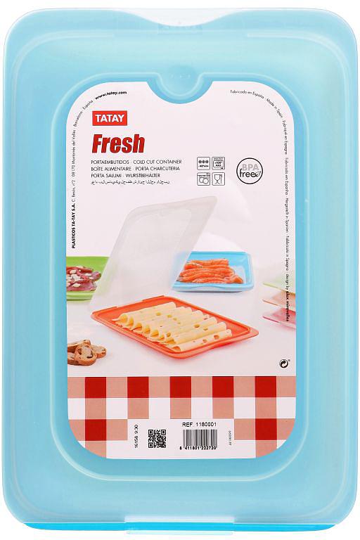 """Плоский контейнер """"TATAY"""" изготовлен из полипропилена. Можно мыть в посудомоечной машине и использовать в микроволновой печи."""