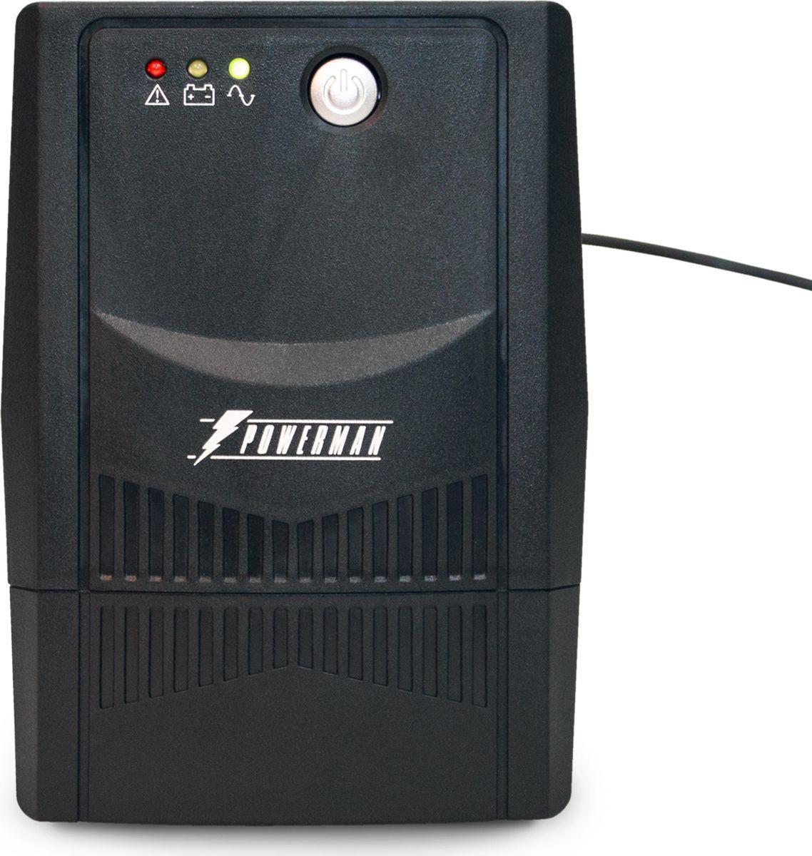 Источник бесперебойного питания Powerman  UPS Вack Pro 800 Plus, 800 ВА - Источники бесперебойного питания (UPS)