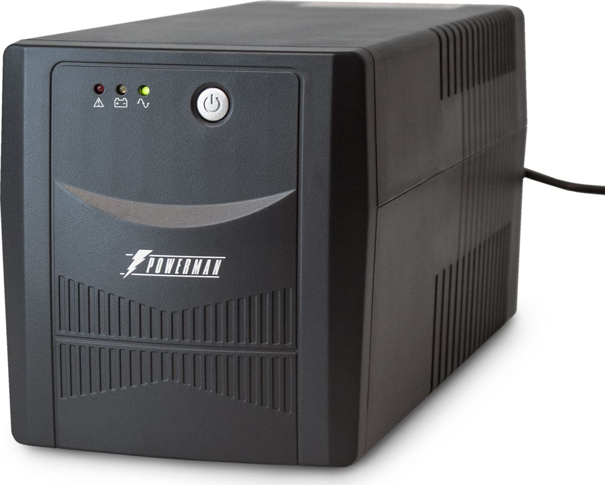Источник бесперебойного питания Powerman  UPS Вack Pro 1000 Plus , 1000 ВА - Источники бесперебойного питания (UPS)