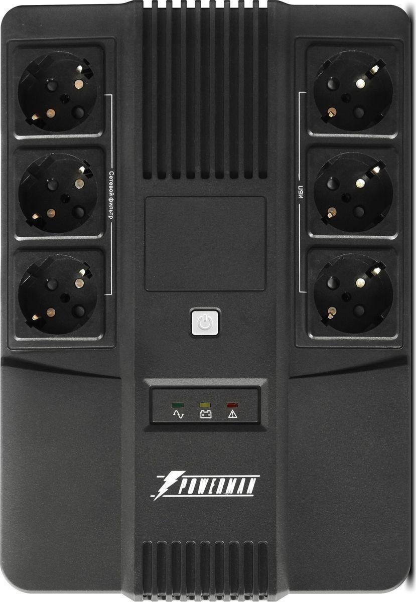 Источник бесперебойного питания Powerman  UPS Brick 800 , 800 ВА - Источники бесперебойного питания (UPS)