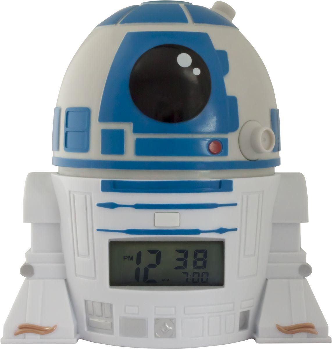 Star Wars Будильник BulbBotz R2-D22021401BulbBotz (дословно лампа бот)- будильник в виде минифигуры любимого героя Звездных Войн, по форме напоминающий лампу накаливания, оснащен цифровым дисплеем с подсветкой и функцией повтора звукового сигнала. Для того, чтобы включить/выключить будильник, нужно нажать на голову минифигуры, которая также подсвечивается!В комплект входят 2 батарейки (ААА).Высота минифигуры: 14 см