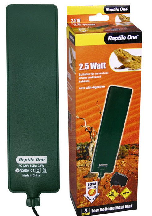 Греющая подушка Aqua One Reptile One Low Voltage Heat Ma, с встроенным термостатом, 2,5W, 6 x 24 см 500v 120ka 660v 50ka low voltage blade contact ceramic fuse link nt2 400a