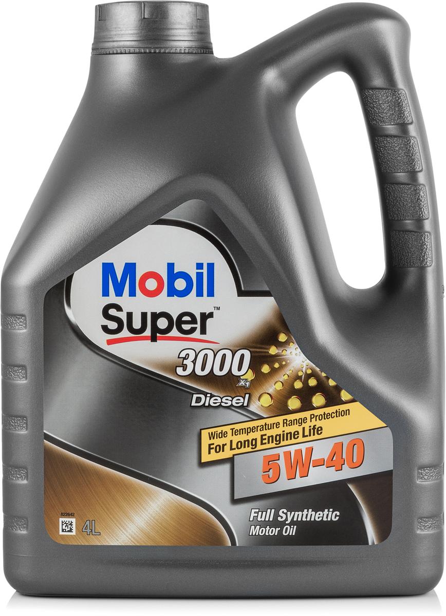 Купить Масло моторное Mobil Super 3000 x1 Diesel, синтетическое, 5W-40, 4 л