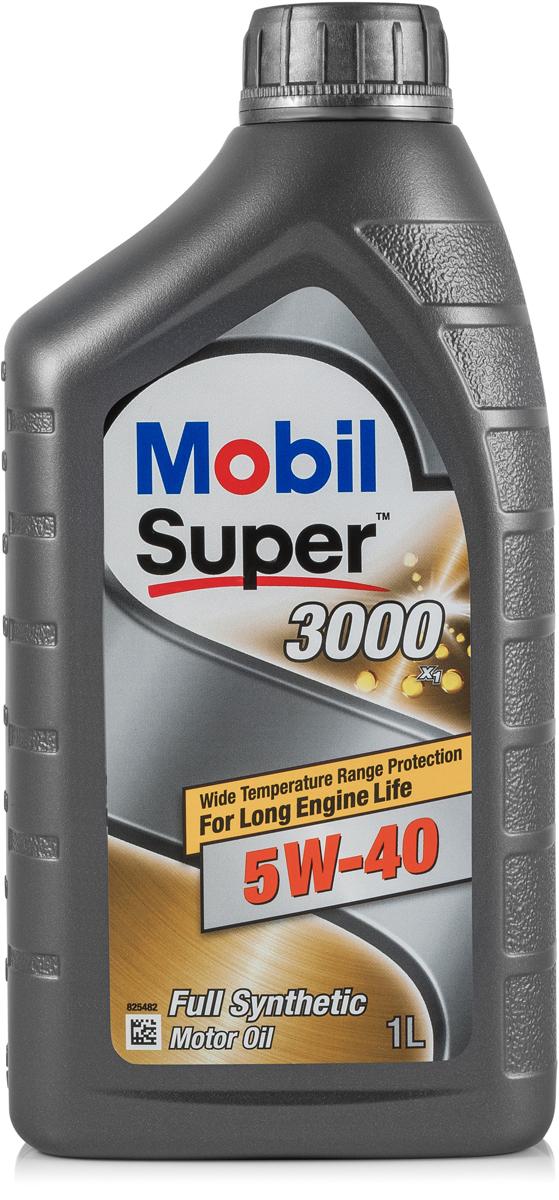 Купить Масло моторное Mobil Super 3000 x1, синтетическое, 5W-40, 1 л