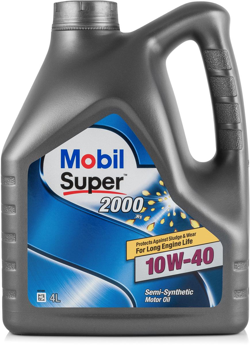 Купить Масло моторное Mobil Super 2000 x1, полусинтетическое, 10W-40, 4 л