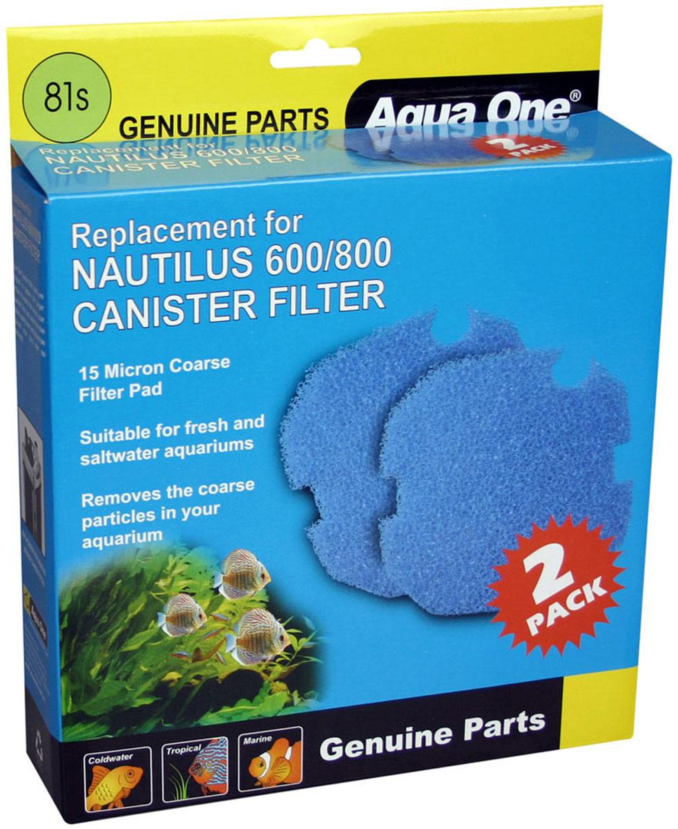 Губка грубой очистки Aqua One Nautilus 600/800, для внешних фильтров, 15 PPI, 2 шт бензонасос фильтр грубой очистки фильтр тонкой очистки на тойота королла