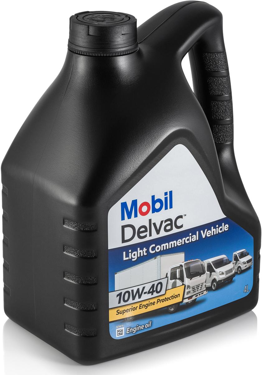 Масло моторное Mobil Delvac Light Commercial Vehicle, полусинтетическое, 10W-40, 4 л MOBIL