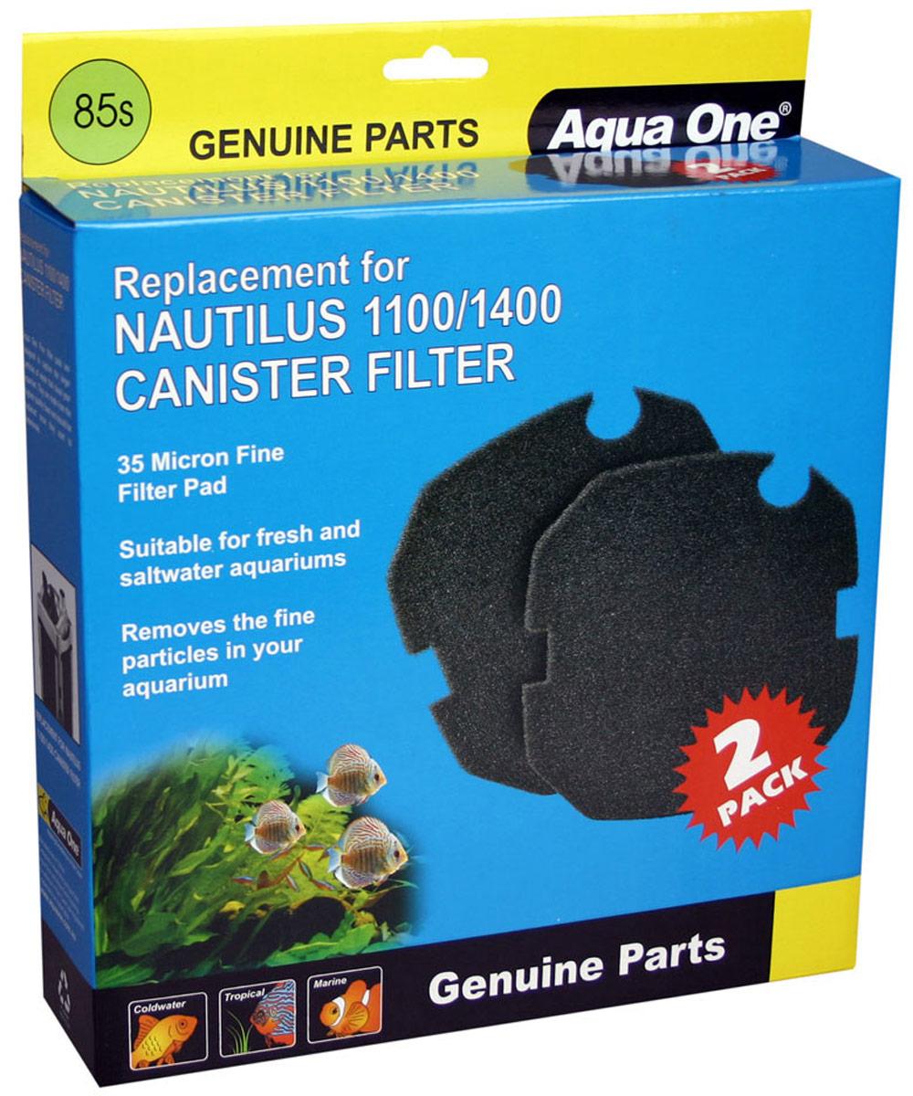 Губка тонкой очистки Aqua One Nautilus 1100/1400, для внешних фильтров, 35 PPI, 2 шт