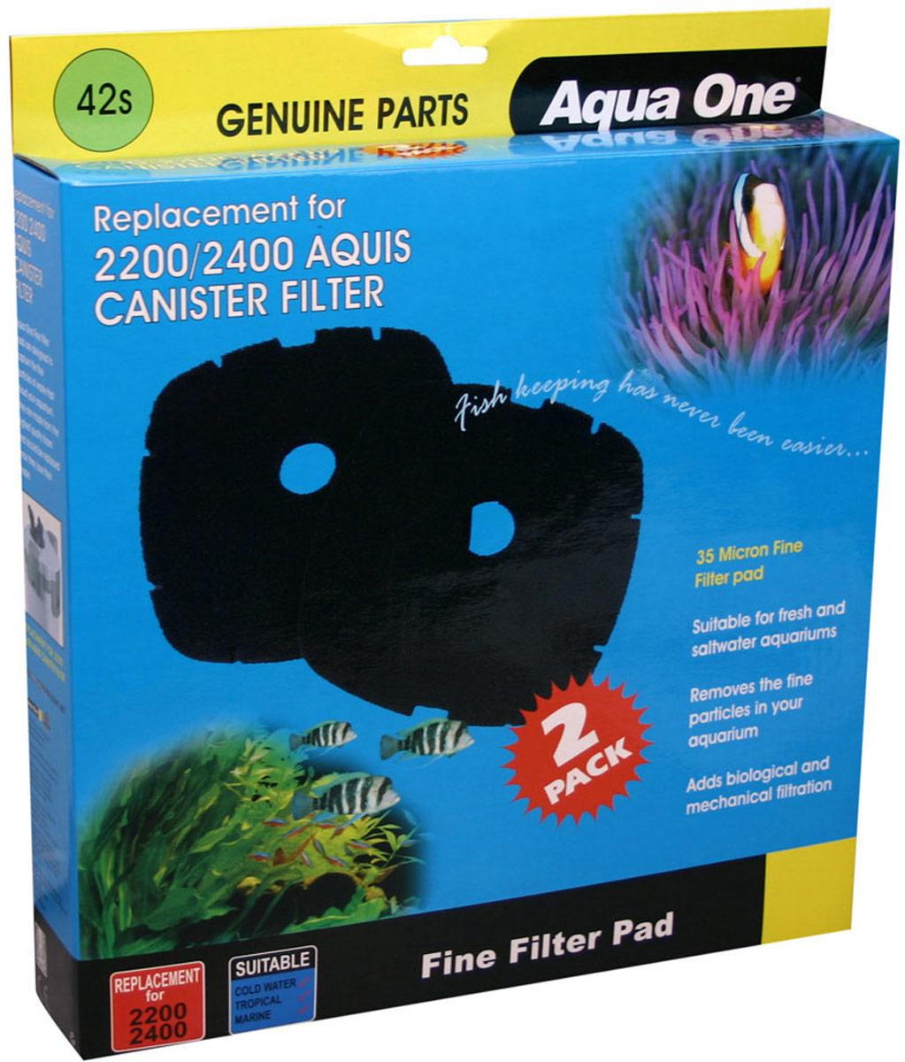 Губка тонкой очистки Aqua One Nautilus 2700, для внешних фильтров, 35 PPI, 2 шт original aspire nautilus 2 coils(5pcs)