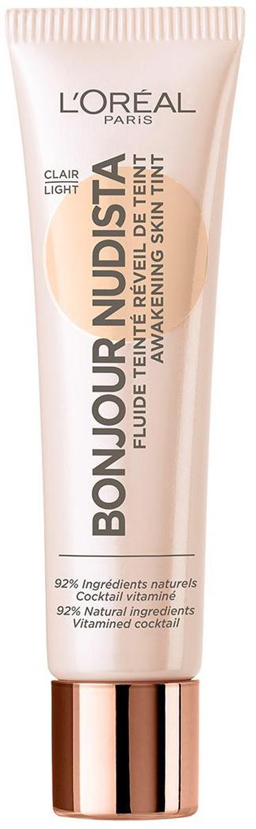 LOreal Paris Тональный BB-флюид для лица Bonjour Nudista, оттенок 01, Слоновая Кость, 30 млA9477100Тональный bb крем для лица выравнивает тон кожи, создавая невесомое естественное покрытие. В составе 92% ингредиентов натурального происхождения.