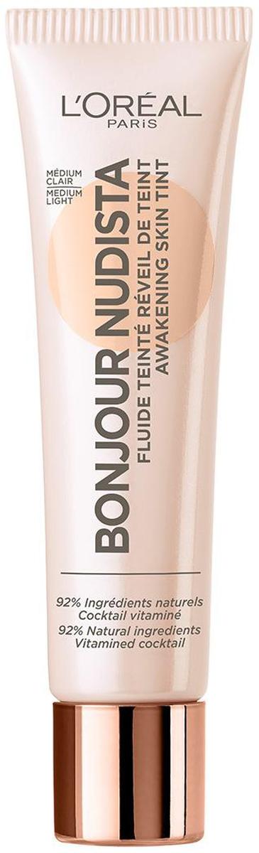 L'Oreal Paris Тональный BB-флюид для лица Bonjour Nudista, оттенок 02, Светло-бежевый, 30 мл белита bb крем для лица туба belita young 30 мл