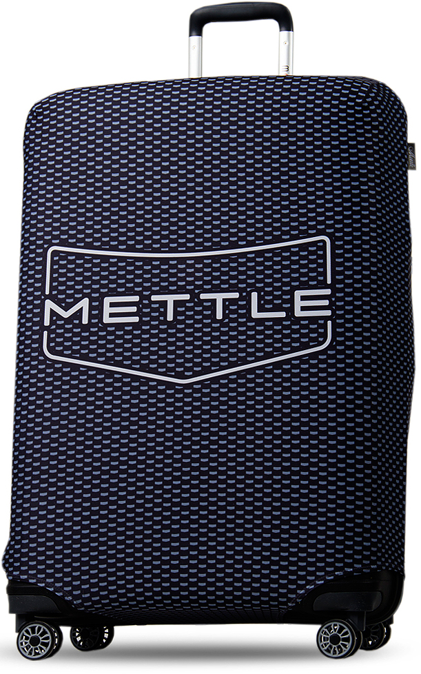 "Чехол на чемодан ""Mettle"", цвет: черный, размер L (высота чемодана: 75-82 см), ТМ Mettle"