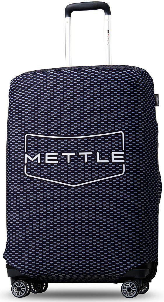 """Суперстильный чехол для чемодана с фирменным узором """"Mettle"""".  Характерный узор позволит не потерять свой багаж и при этом не  раствориться в толпе. Сдержанный дизайн чехла в стиле технологичного  минимализма универсален и подходит для всех, кто придерживается  серьезности и умеренности в одежде и оформлении багажа. Чехол многоразового использования быстро и просто надевается на чемодан и  не требует частых стирок. Благодаря своим компактным размерам аксессуар  занимает минимум места в багаже. Продлите срок службы своего чемодана, защитив его от загрязнений и  повреждений с помощью универсального чехла с фирменным узором """"Mettle!"""""""