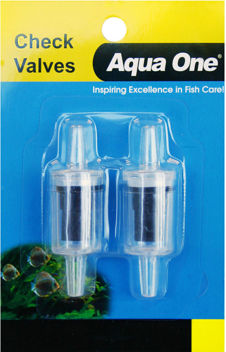 Обратный клапан Aqua One Air Line Check Valve Carded, для шланга 4/6 мм, 2 шт 3 4 normally open solenoid valve water valve air valve 0955405 ac220v dc24v dc12