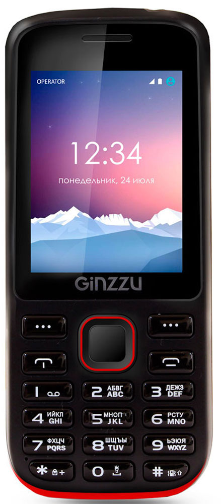 Ginzzu M201, Black Red