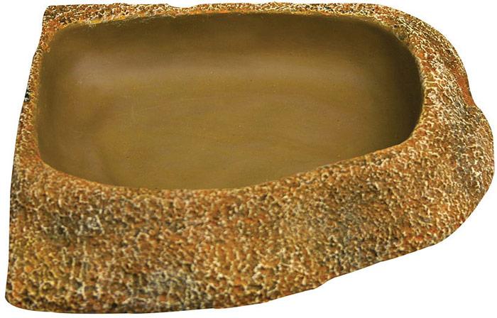 Поилка Aqua One Reptile One Dyno Rock Bowl Corner Fit, 20,2 x 16,4 x 3,8 см