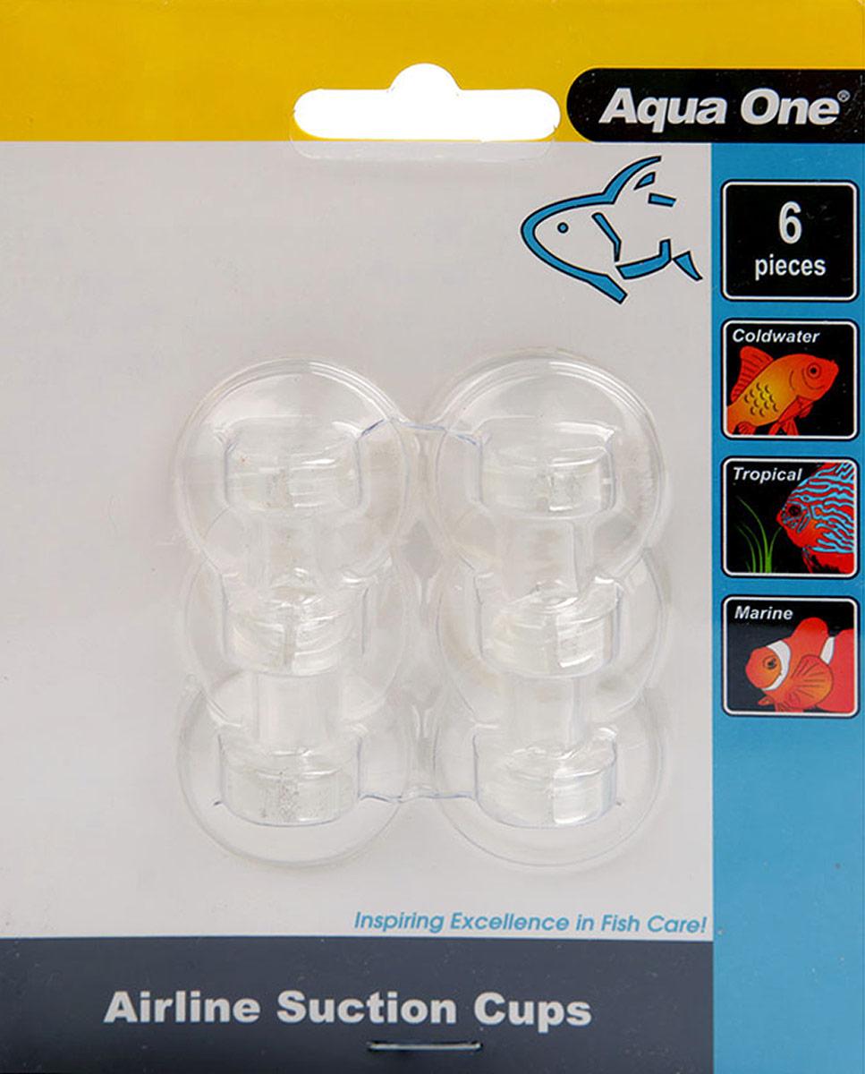 Присоски Aqua One Air Line Suction Cups, для шланга 4/6 мм, 6 шт
