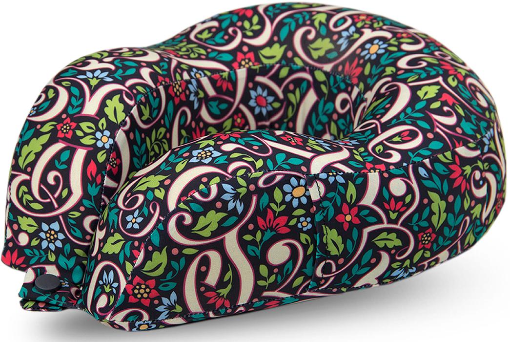 Подушка для путешествий Mettle Иллюзия букв. Цветочный луг, ортопедическая