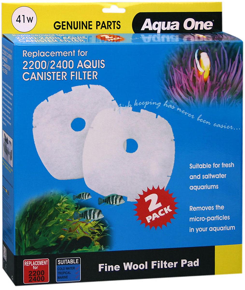 Синтепон Aqua One Nautilus 2700, для внешних фильтров, 2 шт original aspire nautilus 2 coils(5pcs)