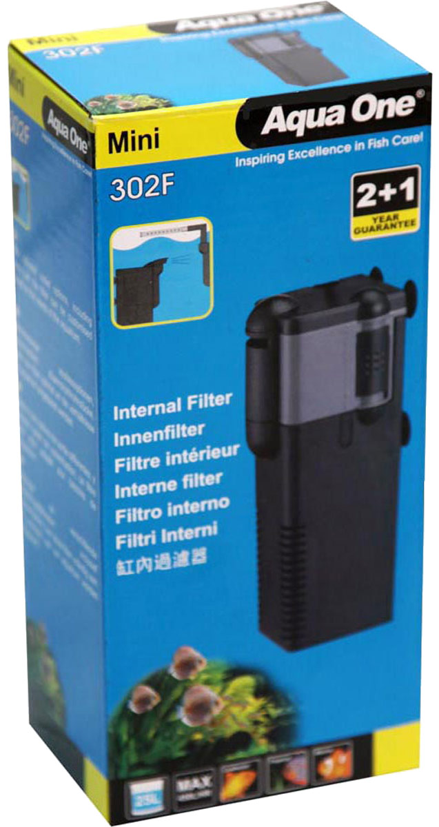 Фильтр Aqua One Mini 302F, внутренний, до 25 л, 450 л/ч, 6,5W уни фильтр aqua el unifilter 360 внутренний 100 340л ч