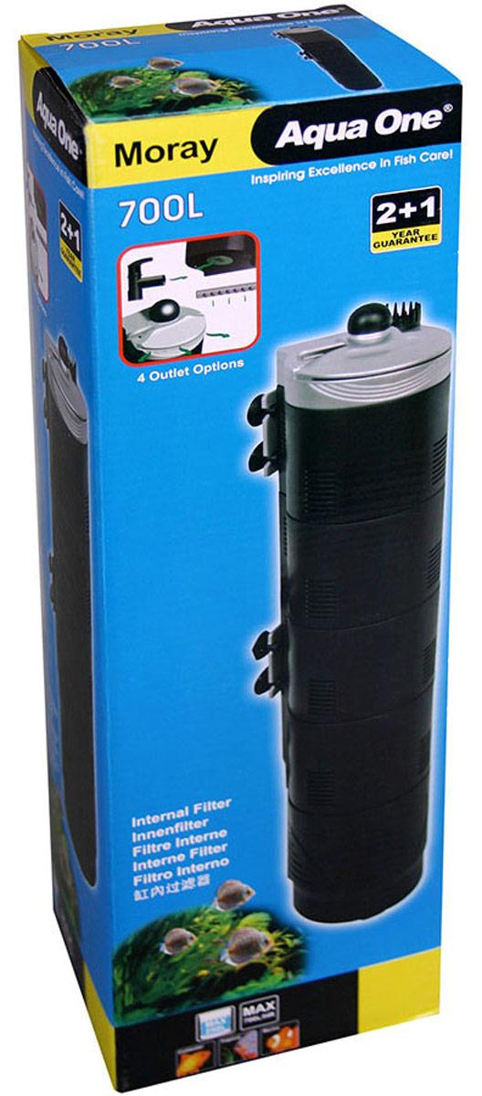 Фильтр Aqua One Moray 700L, внутренний, удлиненный, до 250 л, 700 л/ч, 12,9W уни фильтр aqua el unifilter 750 внутренний 100 750л ч