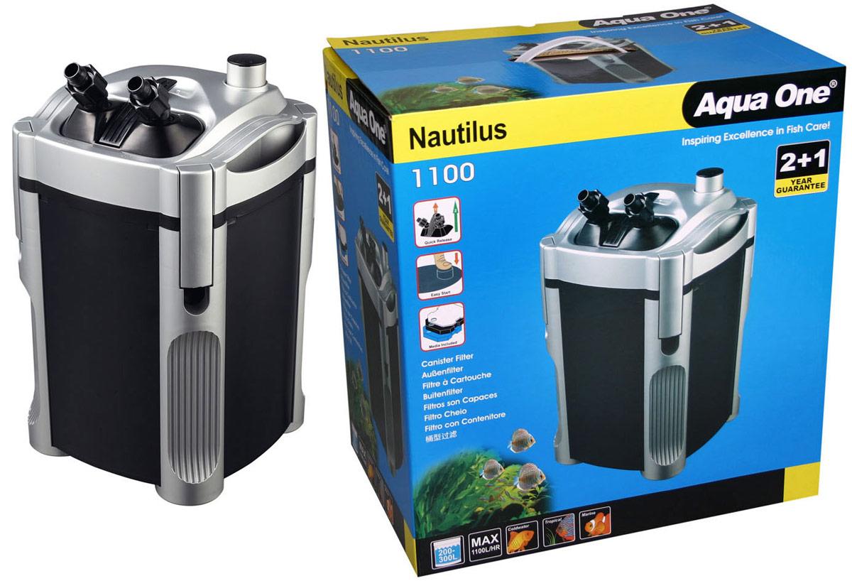 Фильтр Aqua One Nautilus 1100, внешний, 1100л/ч, 22W, до 300 л помпа фильтр aqua el fan 3 300 700л ч