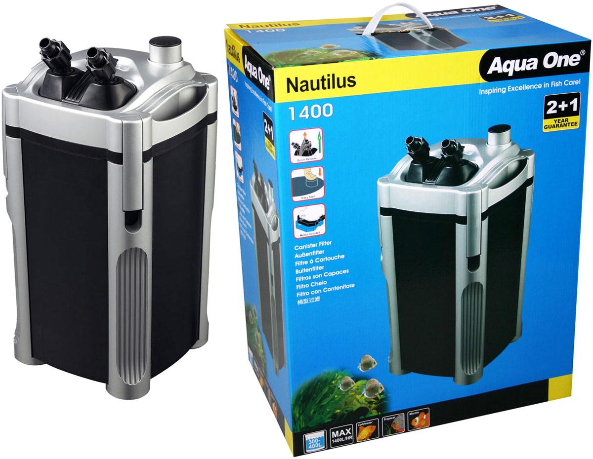 Фильтр Aqua One Nautilus 1400, внешний, 1400л/ч, 22W, до 400 л фильтр aqua el uni max professional fzkn 700 внешний