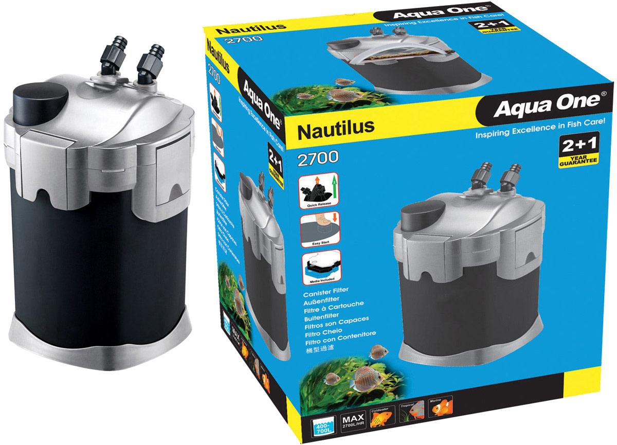 Фильтр Aqua One Nautilus 2700, внешний, 2700л/ч, 32W, до 700 л кольца керамические aqua one premiumnood 640 г