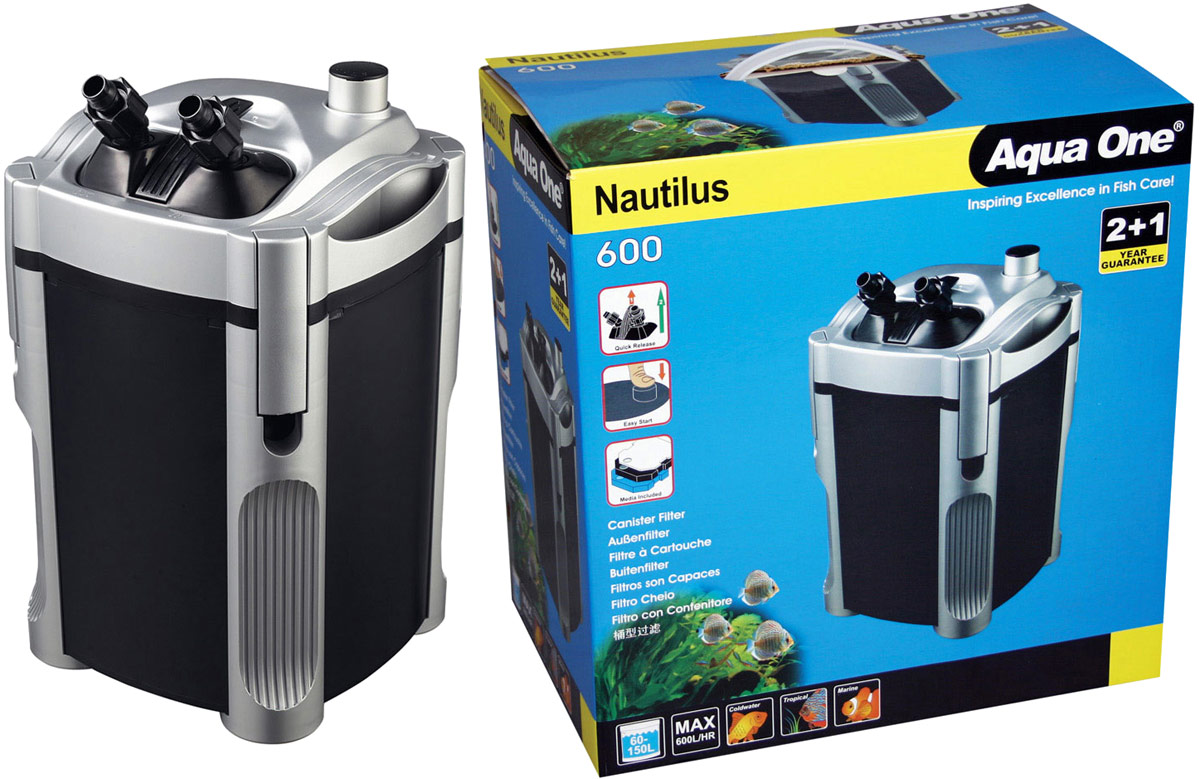Фильтр Aqua One Nautilus 600 внешний, 600л/ч, 9W, до 150 л фильтр aqua el uni max professional fzkn 700 внешний