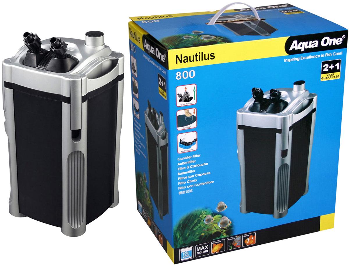 Фильтр Aqua One Nautilus 800, внешний, 800л/ч, 9W, до 200 л фильтр aqua el uni max professional fzkn 700 внешний