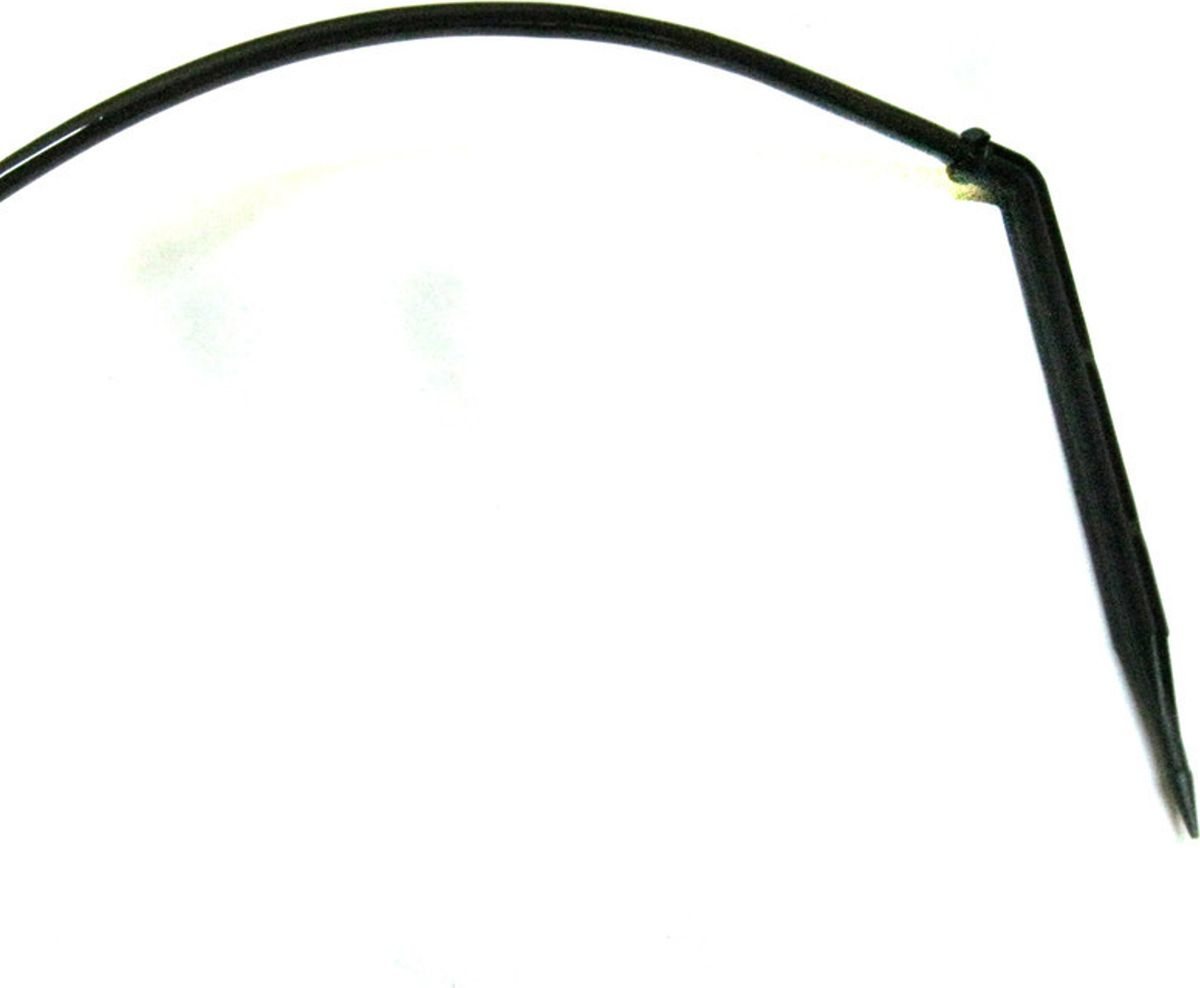 """Угловая капельница индивидуального полива """"MasterProf"""",  выполненная из пластика и металла, является частью системы  капельного полива. Можно использовать в системе без наружных капельниц как  одиночную не компенсированную капельницу с расходом  1,8л/час, а также в системе с наружными капельницами как  стабилизированный колышек с лабиринтом, подающий воду от  капельницы к растению.  В комплекте: 4 шт."""