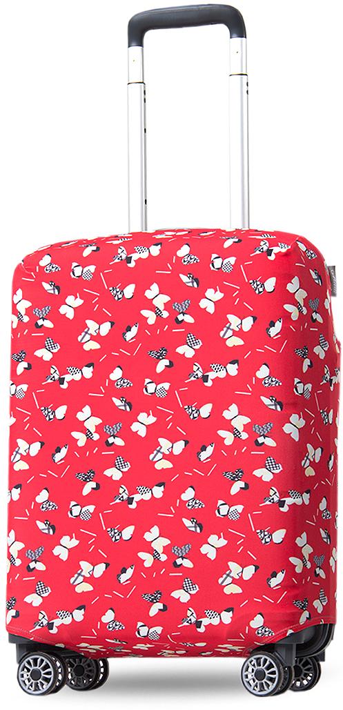 Чехол на чемодан Mettle ART.LEBEDEV. Бумажные бабочки, размер S (высота чемодана: 50-55 см)